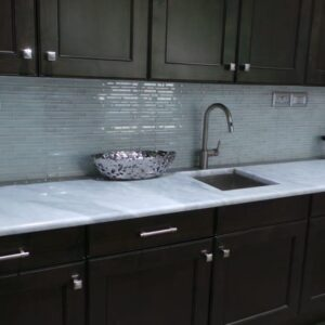Marble Kitchen Top in Bianco Carrara - picture 1